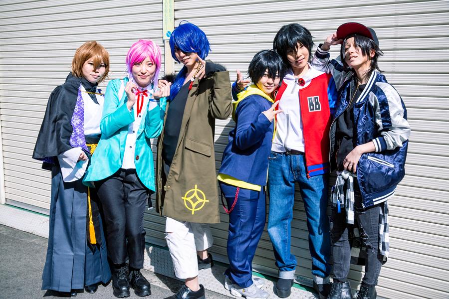 人気声優陣によるラップバトルプロジェクト『ヒプノシスマイク』のキャラクターで合わせたみなさん 写真/木村華子