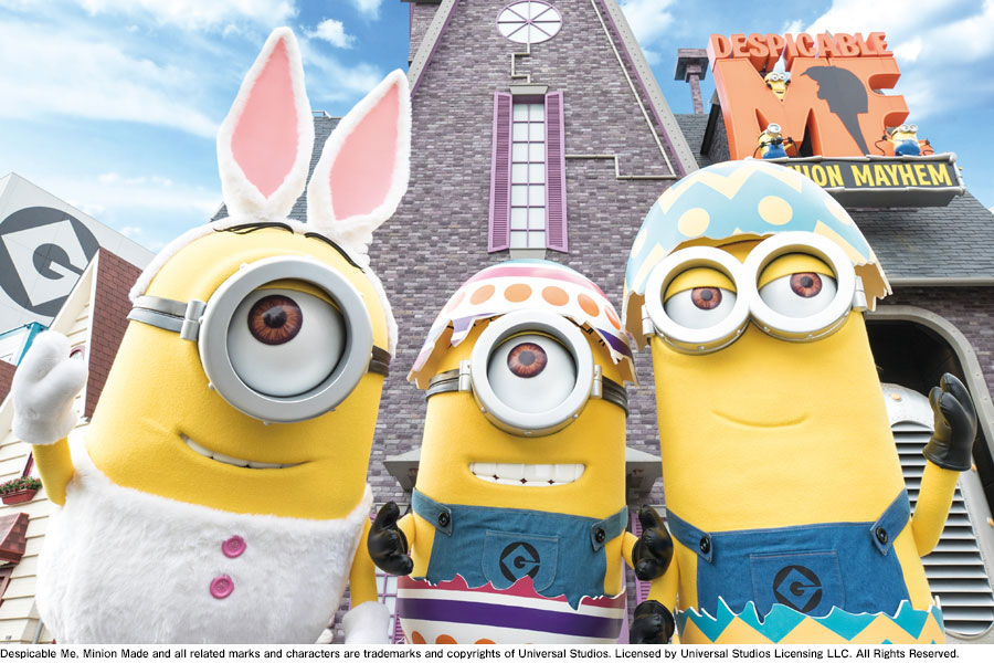 ウサギの耳やタマゴで着飾って「ミニオン・パーク」での春を盛り上げるミニオン 画像はイメージ
