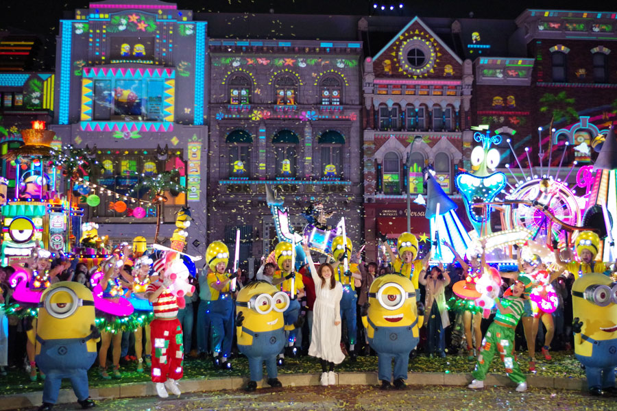 『ミニオン・ナイトパーティ at ザ・パレード』に参加した石原さとみ