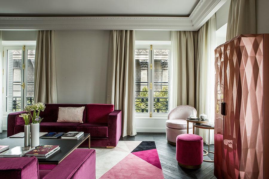 2018年、パリにオープンした「フォション・ロテル・パリ」の客室イメージ