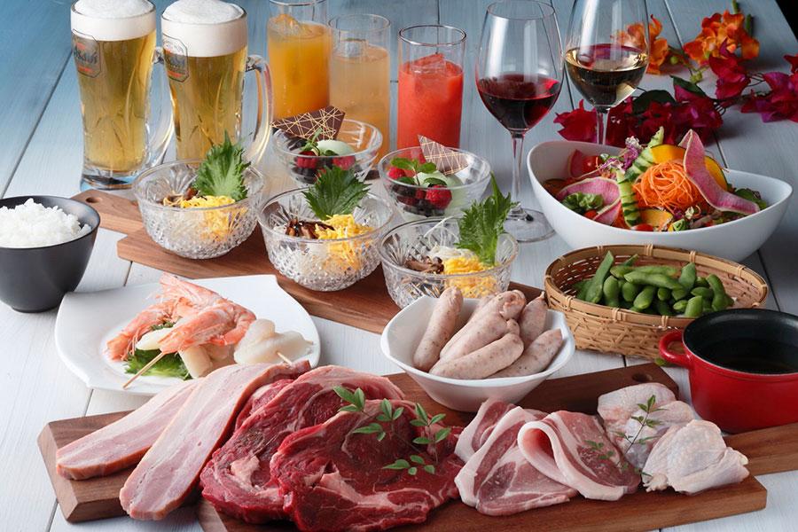 「THE BBQ」プランの料理イメージ