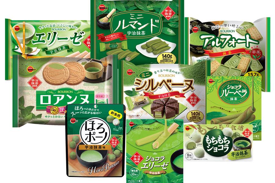 4月16日から発売、ブルボンの抹茶シリーズ(新商品7種、既存品2種)