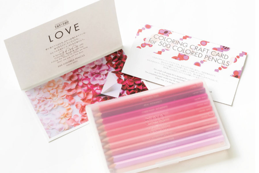 2017年の復刻にて一新、完全日本製の「500色の色えんぴつ TOKYO SEEDS」