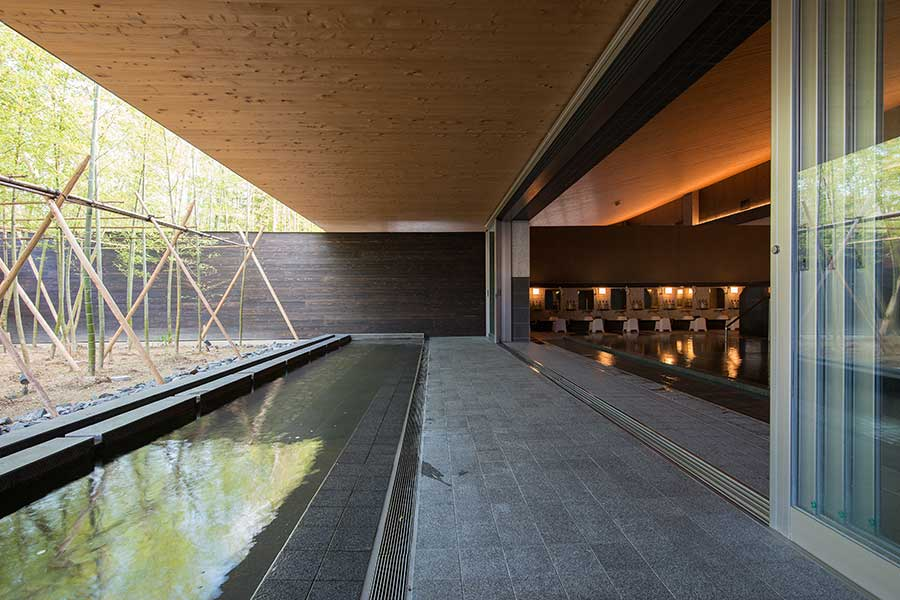 三重にある「アクアイグニス」の大浴場。大阪の浴場のデザインも楽しみにしたい