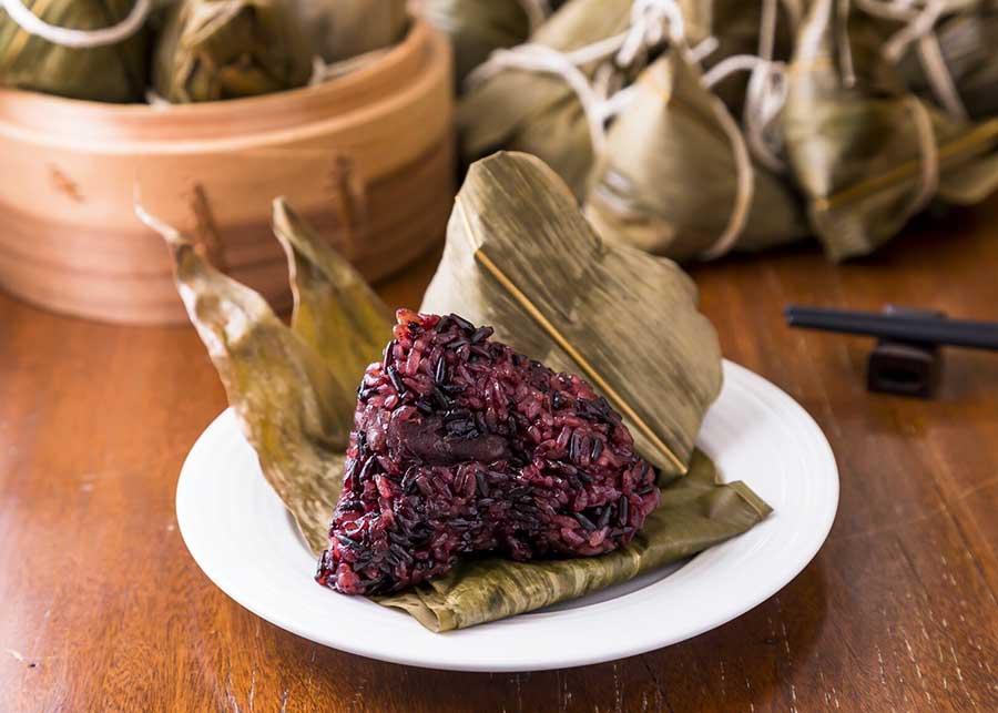 紫米と小豆のちまき