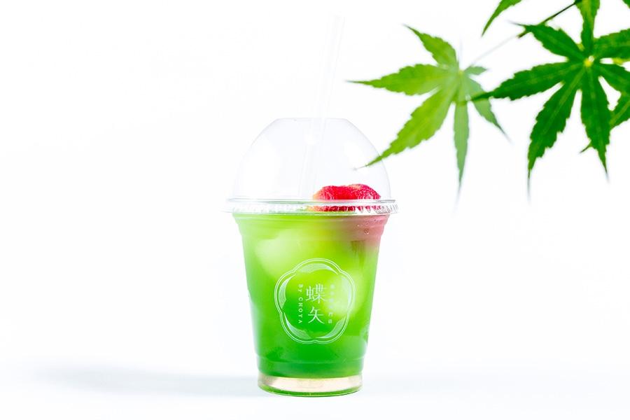 テイクアウトドリンク「蝶矢 梅抹茶カクテル」(550円・税別)