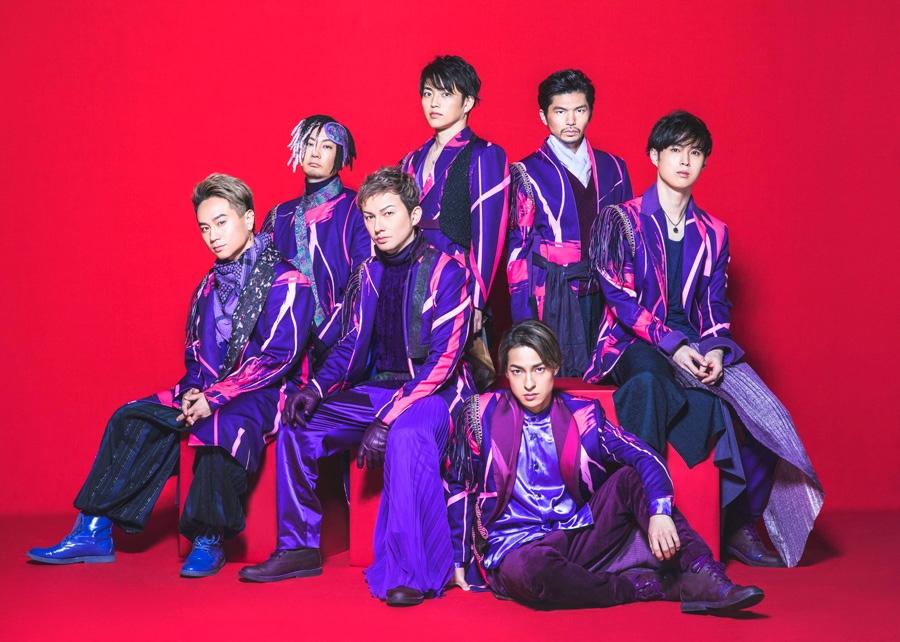 DA PUMP(左からKIMI、TOMO、ISSA、KENZO、DAICHI、U−YEAH、YORI)