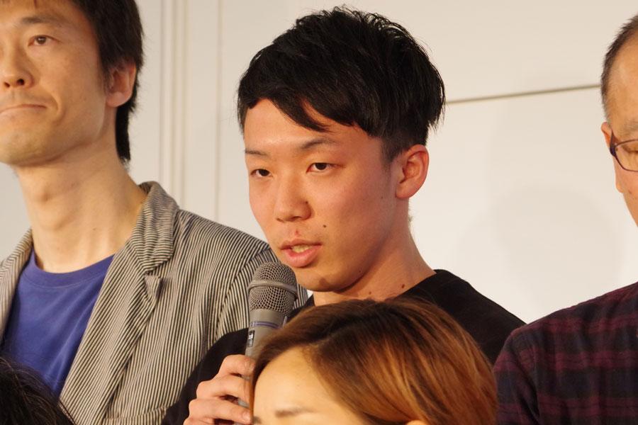 「先月、学生を卒業した。こうした若い、キャリアのない世代にも発表の機会をいただけて光栄」と演出家・福井裕孝