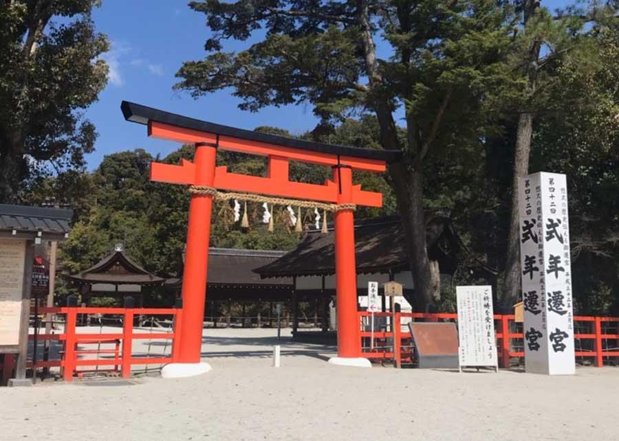 世界文化遺産である「上賀茂神社」