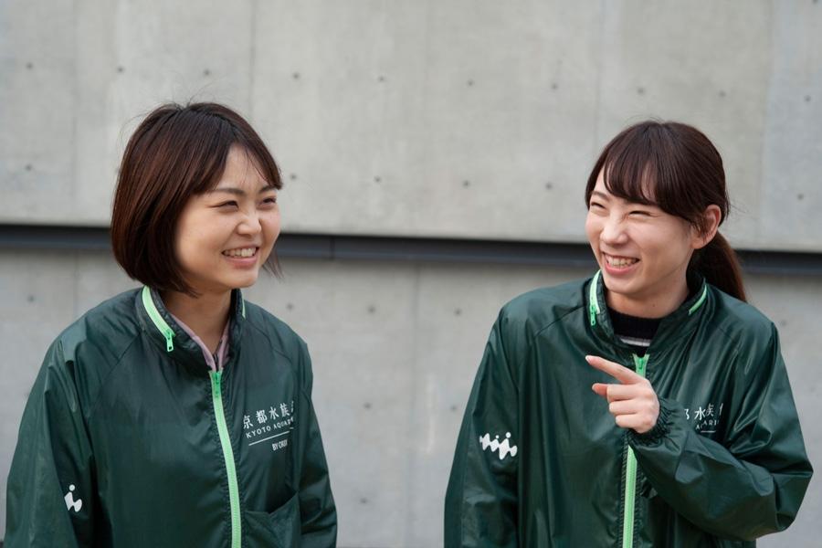 「京都水族館」広報チームの松本さん(左)と前田さん
