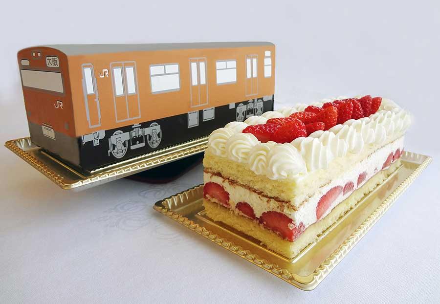 2014〜2015年に発売された「大阪環状線ケーキ(103系)」