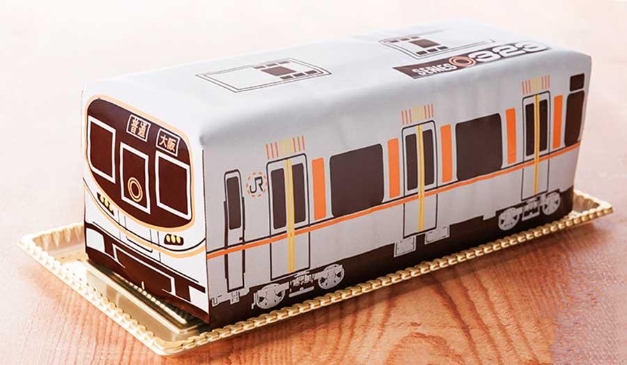 2017年に発売された「大阪環状線ケーキ(323系)」