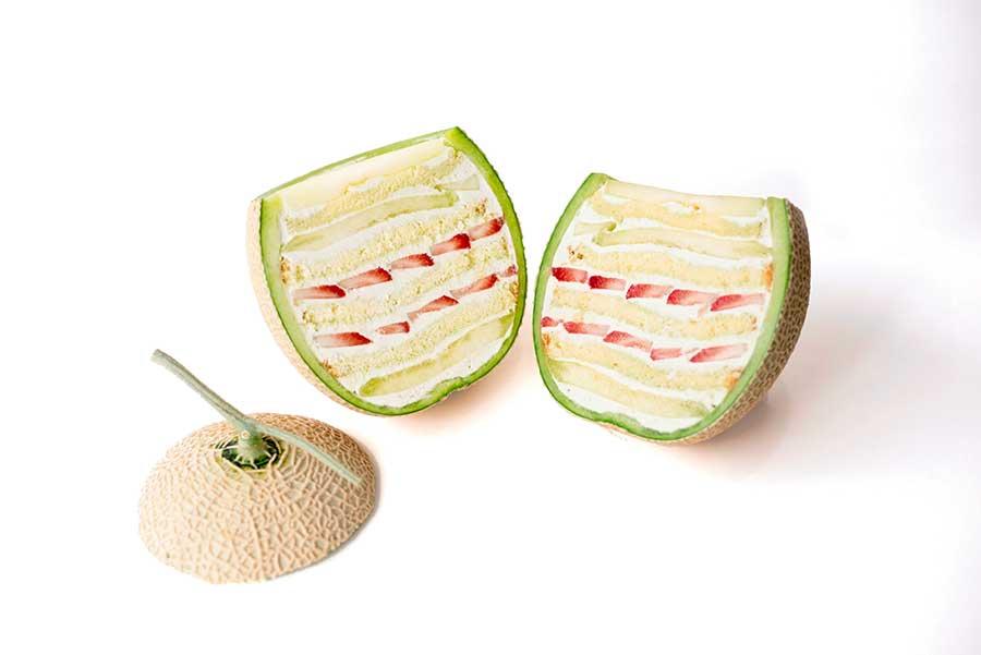 「TSUKIICHI」のメロンケーキ