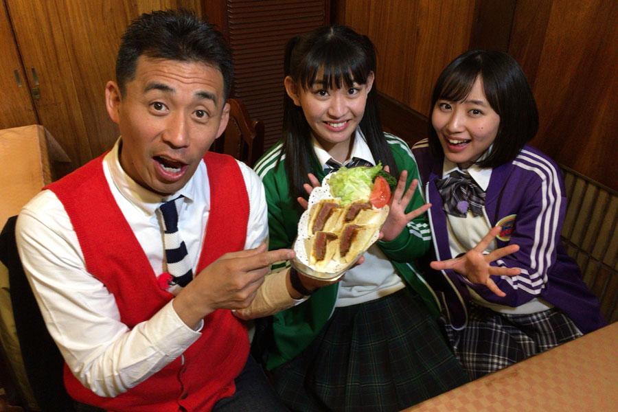 「はり重」で4切れ1800円の高級カツサンドに舌鼓を打つ出演者