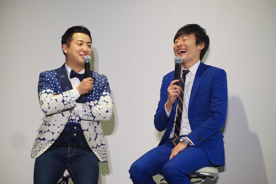 お笑い芸人・和牛(左がボケ担当の水田信二、右がツッコミ担当の川西賢志郎)