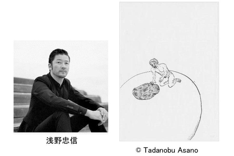 俳優・浅野忠信と、自身のドローイング作品