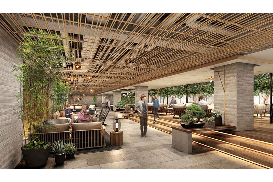 4階には「ボタニカル」をテーマとしたカフェラウンジも併設