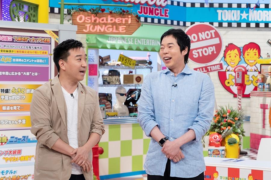 左から、番組MCの月亭八光、今田耕司 © ytv