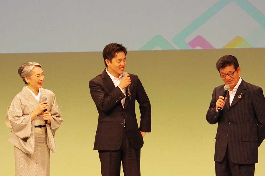 「高齢者のみなさんにどんどん動いてもらうことで、活性化につながる」と松井市長
