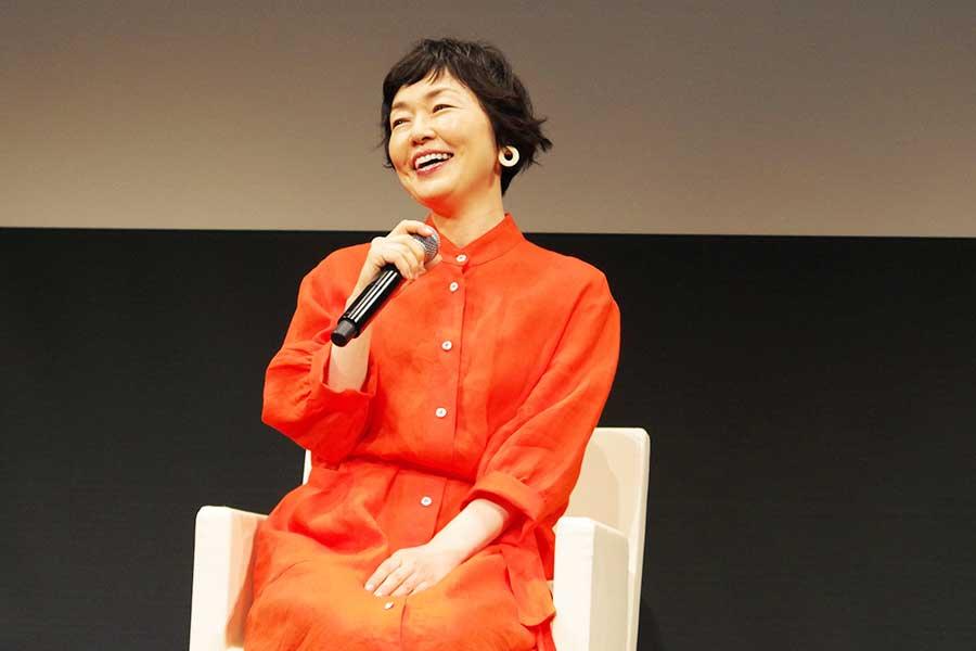 『北欧映画祭』のトークイベントに出演した小林聡美(5月31日撮影)