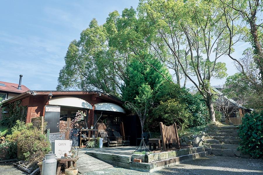 深い緑に囲まれたコテージ風の一軒家(ラウーベ)