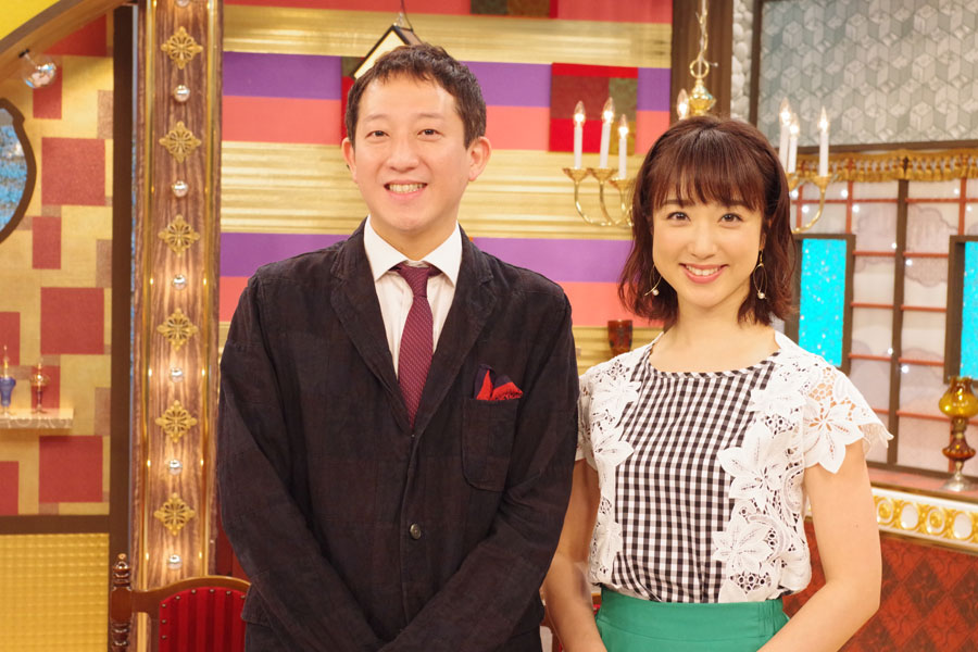 バラエティ『大阪人の新常識 OSAKA LOVER』(テレビ大阪)でMCを務めるサバンナ・高橋茂雄と川田裕美