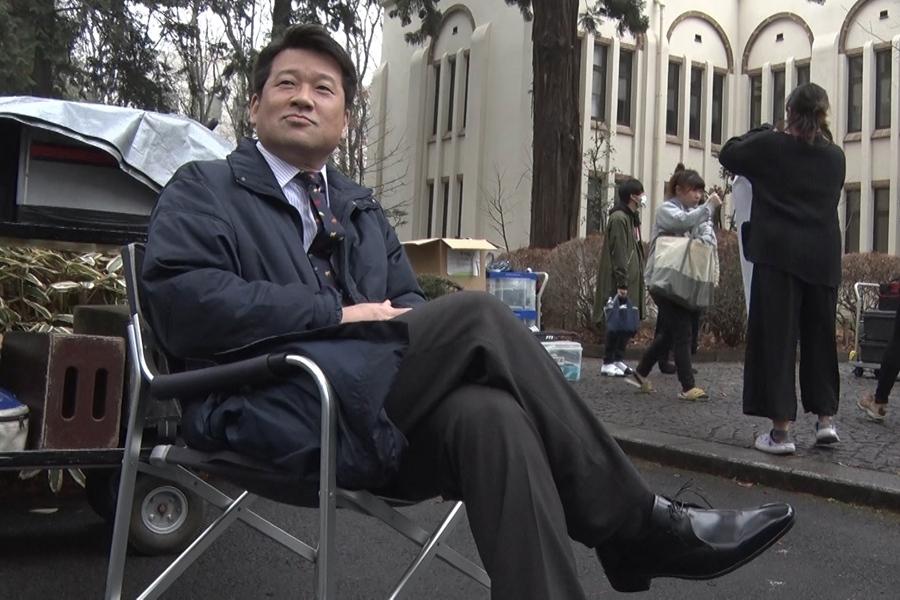 映画の撮影現場での佐藤二朗に、『情熱大陸』のカメラが迫る