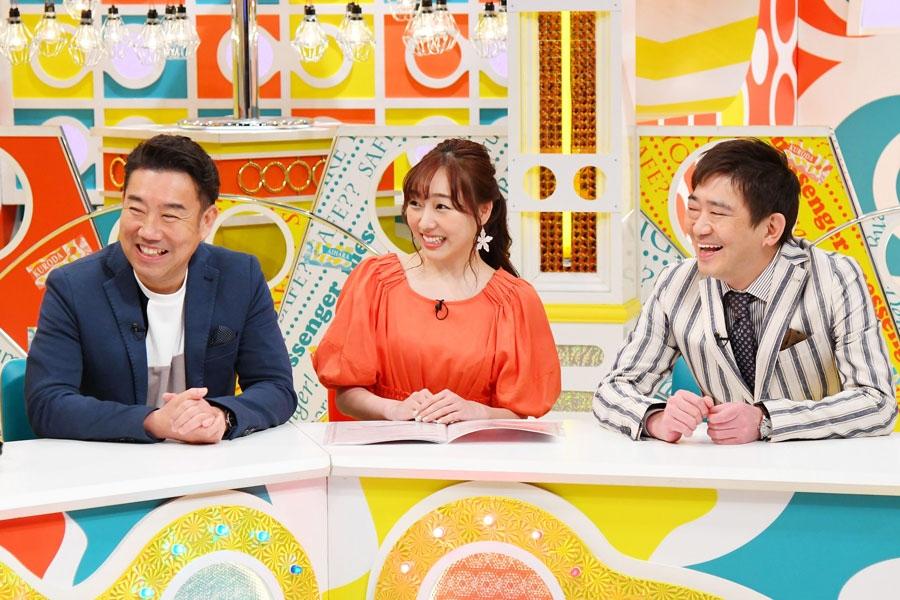 左からメッセンジャーのあいはら、須田亜香里、メッセンジャーの黒田