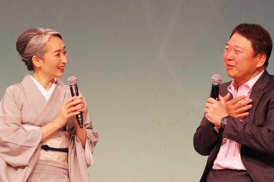 日本抗加齢教会の副理事長 森下竜一は、「男性は女性が染めているかどうかは分かっていない」とトーク