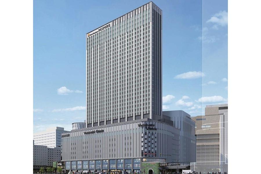 2019年11月開業の「ホテル阪急レスパイア大阪」外観イメージ