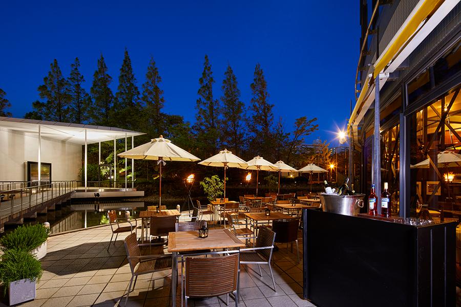 会場となるのは、ホテル内のイタリアンレストラン「バジリコ」の屋外テラス。
