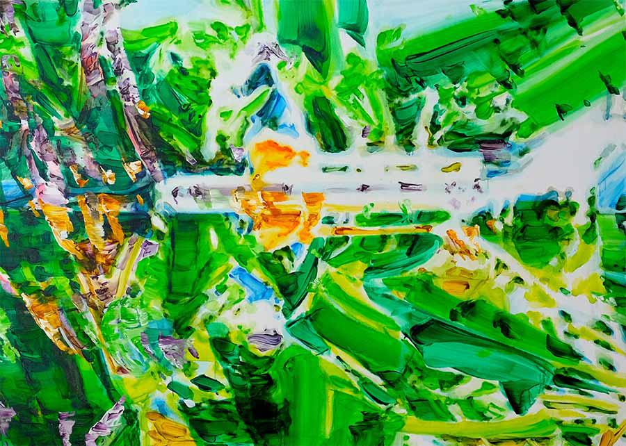 蓮輪友子《Van Aresemlaan 2018-1》 Oil on canvas 135×185cm 2018年 YIRI ART(台湾)