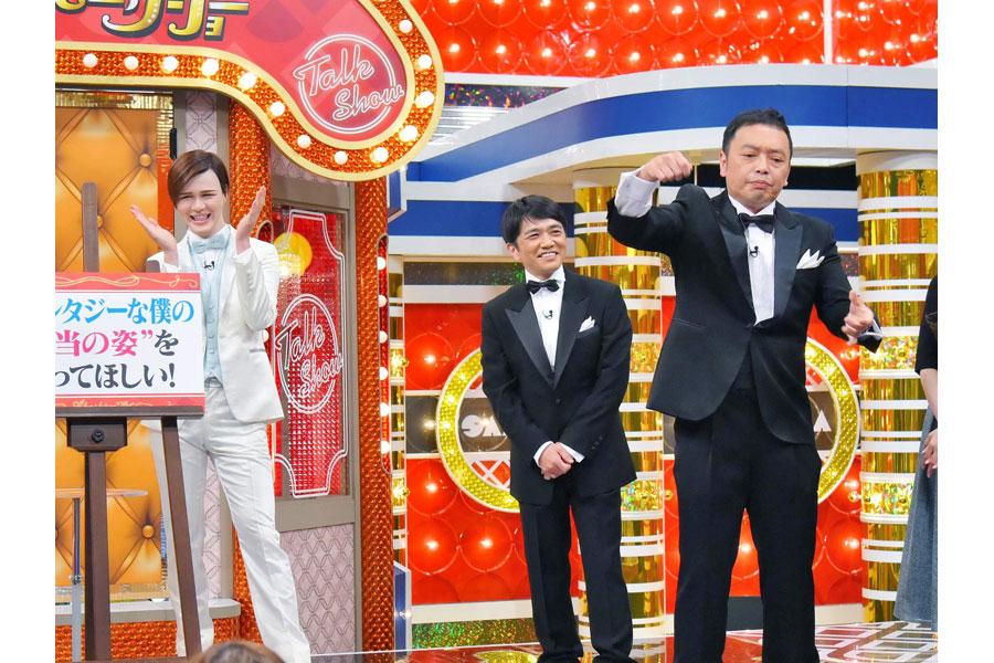 中川家礼二のネタを見て大笑いするMatt 写真提供:MBS