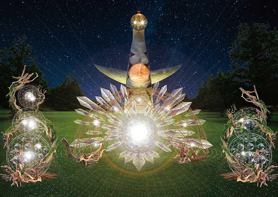 ミラーボールが輝き、幻想的な空間を演出する「イルミナナイト」