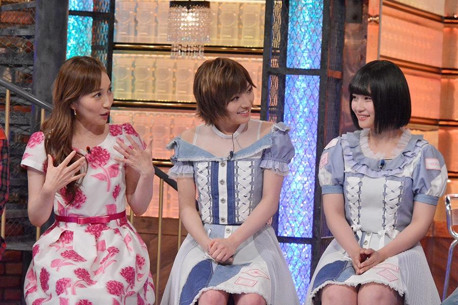 左から、はいだしょうこ、岡田奈々、矢作萌夏 © ytv