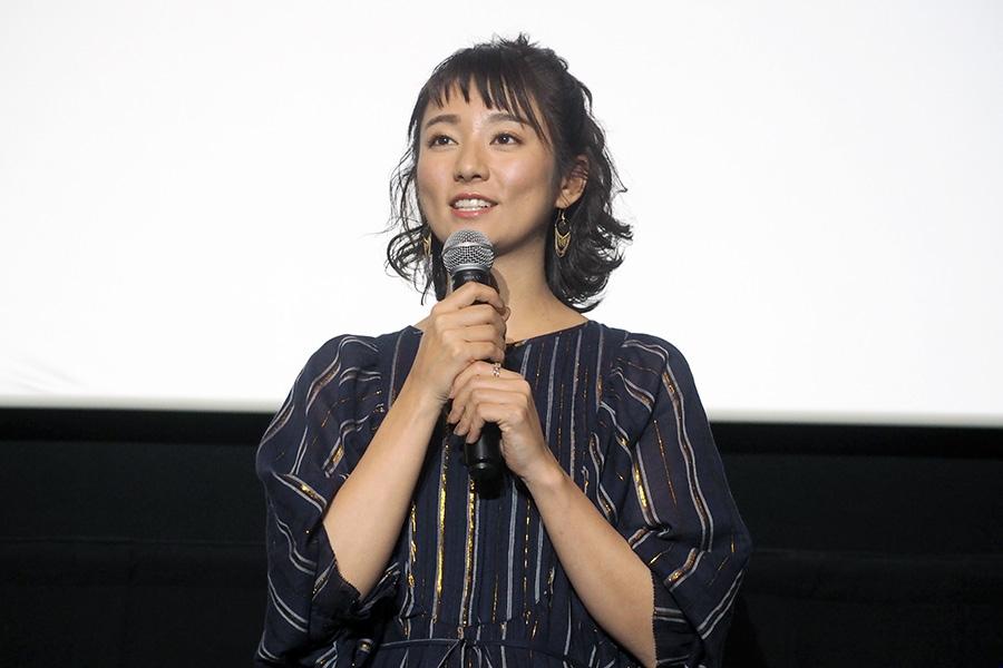 映画『ザ・ファブル』の舞台挨拶に登壇した木村文乃(3日・大阪市内)