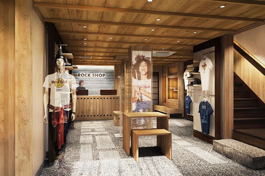 併設の「ロックショップ」では、京都店限定のオリジナルグッズが販売される。