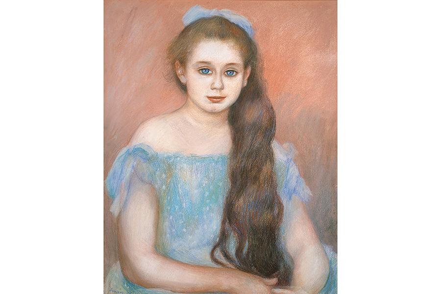 ピエール=オーギュスト・ルノワール《シュザンヌ・アダン嬢の肖像》1887年 パステル/紙 吉野石膏コレクション
