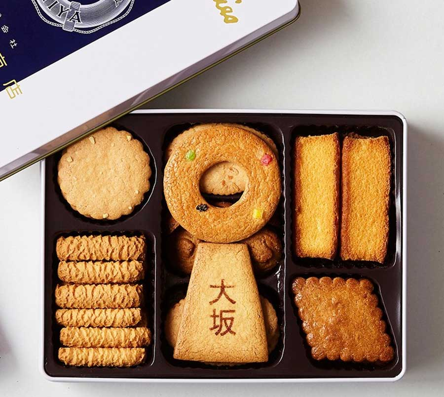 「泉屋」のスペシャルクッキーズ1080円(7月1日〜)は、丸と台形クッキーを組み合わせて販売する