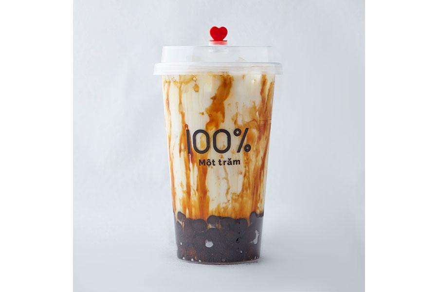 「沖縄黒糖タピオカミルク」(Mサイズ・490円)