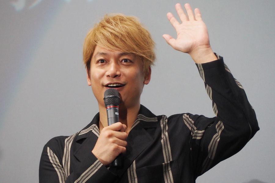 「このシーンだけ郁男が笑顔」と明かす香取慎吾(19日・大阪市内)