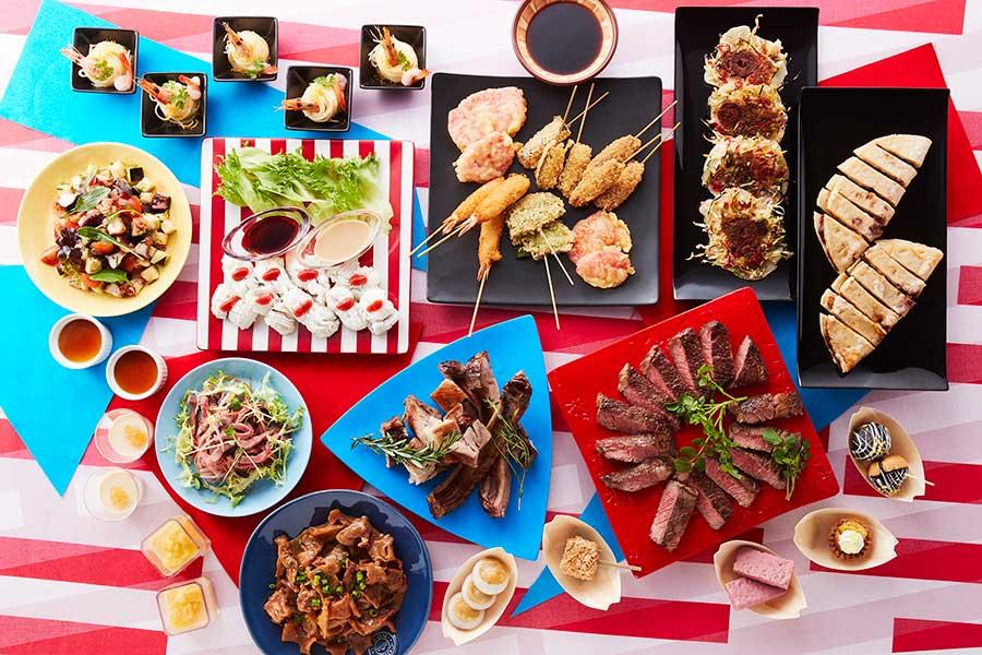 串カツ、ホルモンカレー、洋食焼きなど。関西人にとって高級メニューとされる鱧しゃぶの人気がないのは意外だったそう