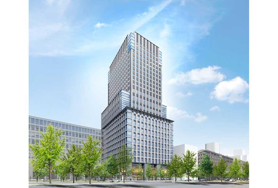 2020年春に開業予定の「ザ ロイヤルパークホテル アイコニック 大阪御堂筋」のイメージ図