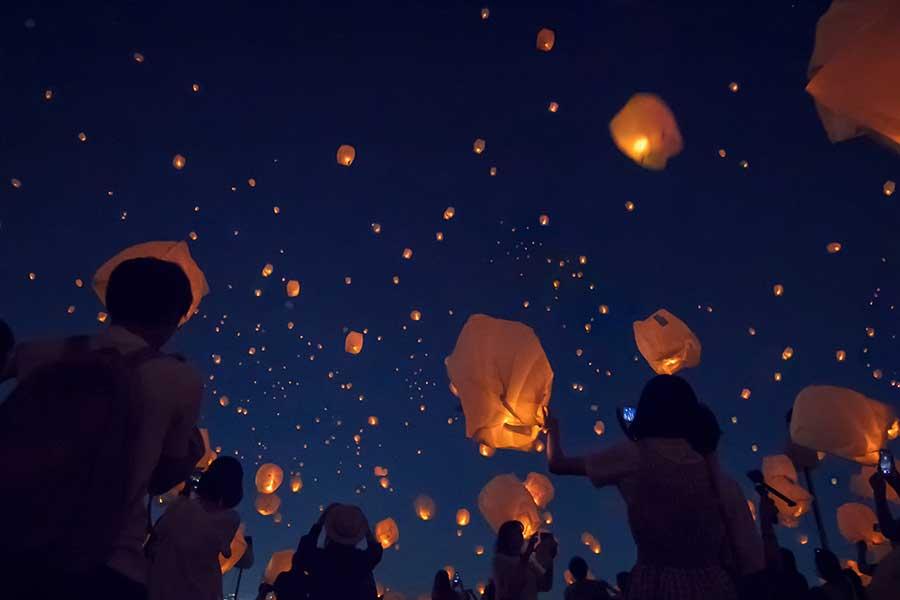 『七夕スカイランタン祭り』のイメージ図