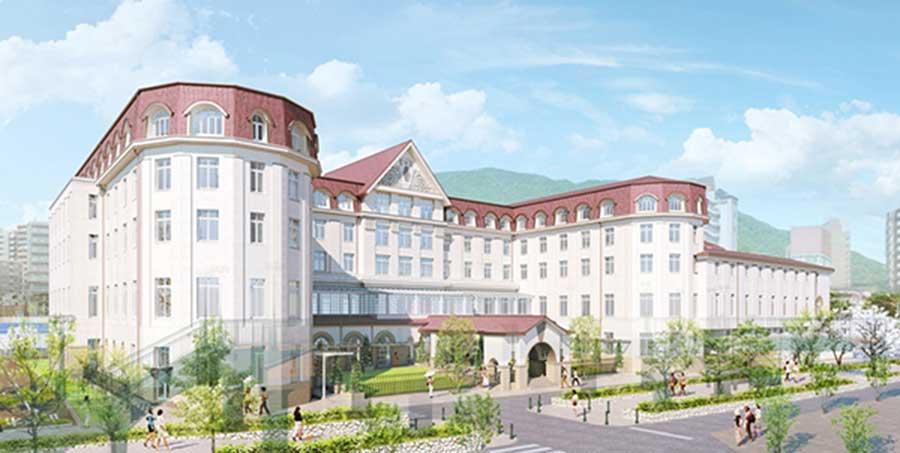 現在のクラシカルなデザインを継承する新「宝塚ホテル」(イメージ図)