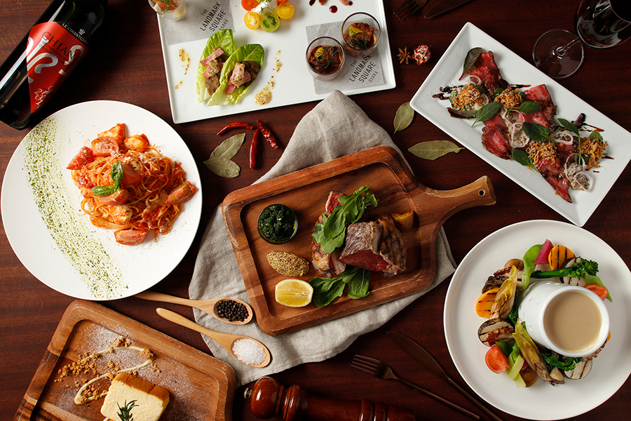 2階にあるイタリアン「クロスフィールド ウィズ テラスラウンジ」にて提供されるイタリア料理のイメージ