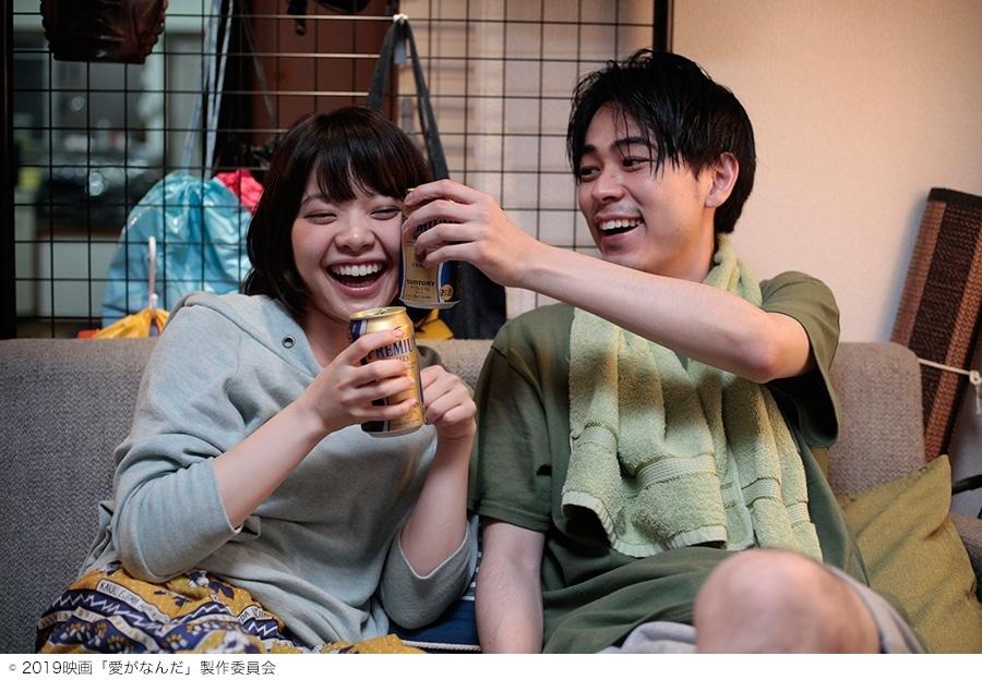 今泉力哉監督『愛がなんだ』のワンシーン(岸井ゆきのと成田凌)