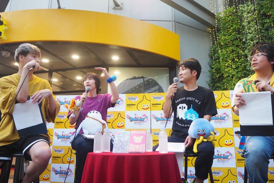 「梅田ロフト」でのトークイベントに登場した(左から)JOY、斎賀みつき、青海亮太氏、岡本北斗氏(29日・大阪市内)
