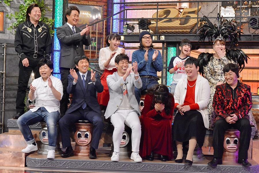 7月25日放送の『ダウンタウンDX』(読売テレビ)ゲストのモノマネ芸人たち © ytv