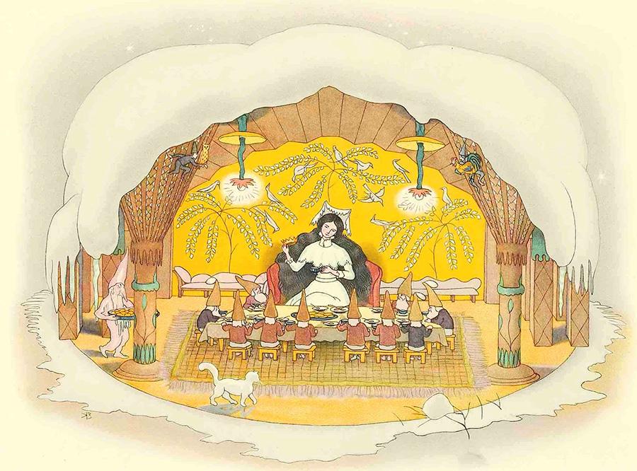 『ふゆのはなし』より《宴》1924年 小さな絵本美術館蔵